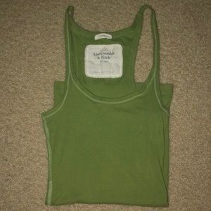 Abercrombie & Fitch light olive green tank top